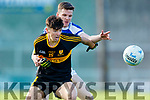 Jordan Kiely Dr Crokes in action against Shane Brosnan   Kerins O'Rahillys in the Kerry Senior Football County Championship Semi Final between Dr Crokes and Kerins O'Rahillys at Austin Stack Park on Sunday.