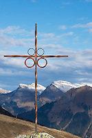 Summit cross in Swiss Alps