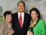 From left: Barbara Friedman, Judge John Chase and Donna Ramsay-Willcox at a luncheon at the Houston Museum of African American Cuture Wednesday  March 10,2010. (Dave Rossman Photo)