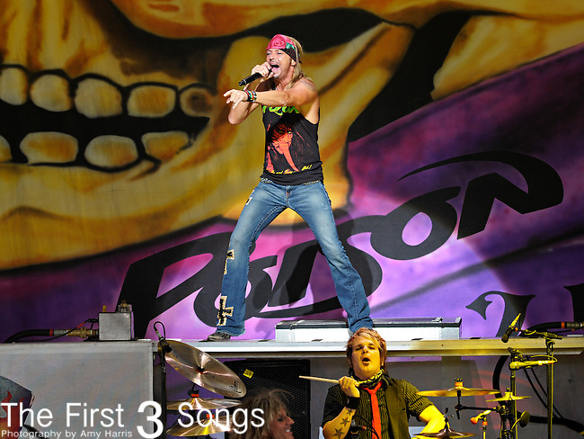 Bret Michaels of Poison performs at Riverbend Music Center in Cincinnati, Ohio on June 26, 2011.