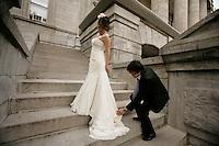 Montreal (Qc) Canada - June 17 2009 -..Model Released photos - Wedding dresses