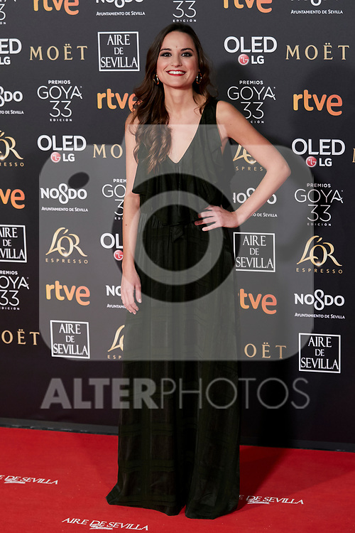 Judit Neddermann attends to 33rd Goya Awards at Fibes - Conference and Exhibition  in Seville, Spain. February 02, 2019. (ALTERPHOTOS/A. Perez Meca)