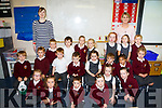 First day for Ms. Lesley-Ann Colgan's Junior Infants at Scoil Realt na Mara Cromane with SNA Breda Griffin. Pictured Hollie Griffin, Natasha Donegan, Riley Gill, Sean Campbell, Ella Foley, Alex Clifford, Cait Foley, Gerard O'Sullivan, Andrew Stephenson, Tomas O'Sullivan, Jack Moroney, Ada Marmion, Molly Clifford, Hannah O'Brien, Faye McKenna, Zarah Tomlinson, Kate Foley Lauren Hurley, Oisin Teahan, James Geoghegan, Lira O'Connor