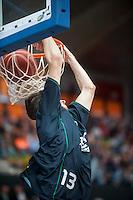 VALENCIA, SPAIN - OCTOBER 18: Ignacio Llovet during ENDESA LEAGUE match between Valencia Basket Club and FIATC Joventut at Fonteta Stadium on October 18, 2015 in Valencia, Spain
