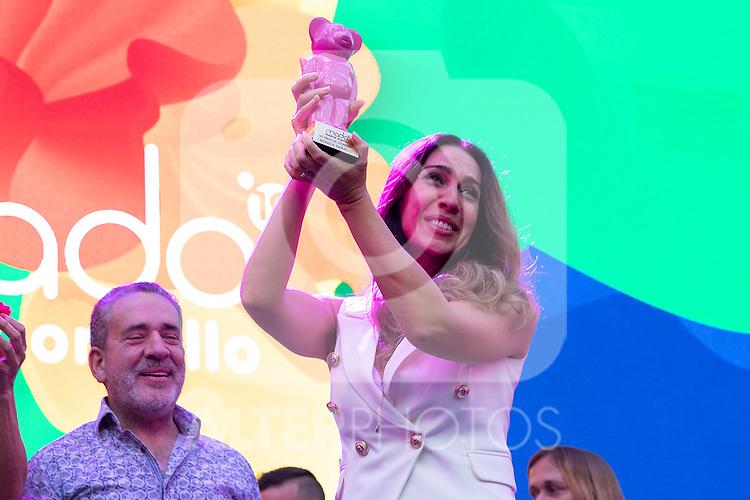 Spanish singer Monica Naranjo during the presentation of the lgtb pride party of Madrid. July 3, 2019. (ALTERPHOTOS/JOHANA HERNANDEZ)