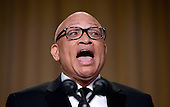Comedian Larry Wilmore speaks during the White House Correspondents' Association annual dinner on April 30, 2016 at the Washington Hilton hotel in Washington.This is President Obama's eighth and final White House Correspondents' Association dinner.<br /> Credit: Olivier Douliery / Pool via CNP