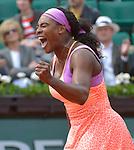 Serena Williams (USA) defeats Anna-Lena Friedsam (GER) 5-7. 6-3, 6-3