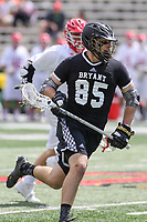 College Park, MD - May 14, 2017: Bryant Bulldogs Trevor Weingarten (85) runs with the ball during the NCAA first round game between Bryant and Maryland at  Capital One Field at Maryland Stadium in College Park, MD.  (Photo by Elliott Brown/Media Images International)