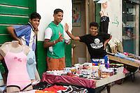 Tripoli, Libya - Medina Street Scene, Young Men Selling Clothes, Cosmetics, Toiletries