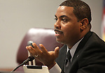 Nevada Sen. Steven Horsford, D-North Las Vegas, speaks in a committee hearing at the Legislature in Carson City, Nev. on Tuesday, March 1, 2011..Photo by Cathleen Allison