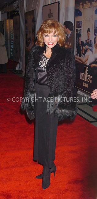 "WWW.ACEPIXS.COM . . . . .  ....NEW YORK, DECEMBER 4, 2005....Joan Collins at The World Premiere Of ""The Producers""....Please byline: AJ Sokalner - ACEPIXS.COM.... *** ***..Ace Pictures, Inc:  ..Philip Vaughan (212) 243-8787 or (646) 769 0430..e-mail: info@acepixs.com..web: http://www.acepixs.com"