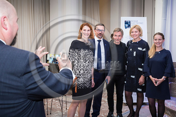 BRUSSELS - BELGIUM - 27 September 2017 -- Finland 100th Anniversary Reception and Concert of the Philharmonia Orchestra of London at the BOZAR. -- Esa-Pekka Salonen, Conductor of the Philharmonia Orchestra of London. MEP Henna VIRKKUNEN -- PHOTO: Juha ROININEN / EUP-IMAGES
