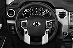 Car pictures of steering wheel view of a 2018 Toyota Tundra SR5 5.7L Crew Max 4WD Short Bed 4 Door Pick Up