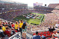 Santa Clara, CA - Friday June 3, 2016: Fans watch the opening ceremony. USA played Colombia in the opening match of the Copa América Centenario game at Levi's Stadium.