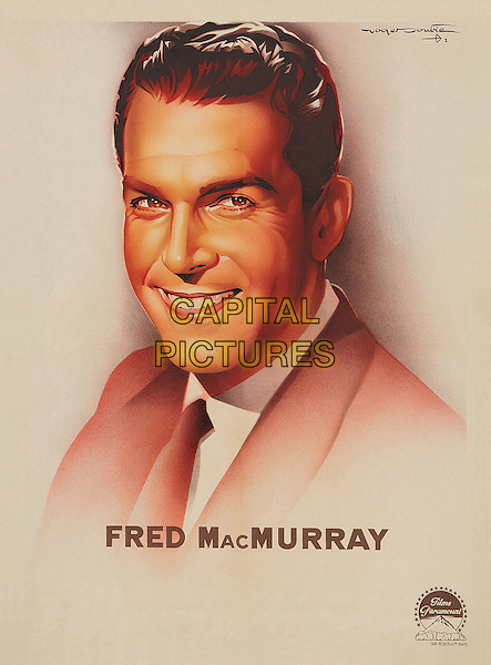 Fred MacMurray, Personality Poster.*Filmstill - Editorial Use Only*.CAP/PLF.Supplied by Capital Pictures.