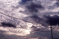 CLOUDS - At Dusk with Utility Wires and Pole