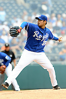 LHP Jorge De La Rosa starts against the Philadelphia Phillies at Kauffman Stadium in Kansas City, Missouri on June 10, 2007.  The Royals won 17-5.