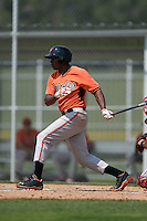 Baltimore Orioles Randolph Gassaway (87) during a minor league spring training game against the Boston Red Sox on March 20, 2015 at the Buck O'Neil Complex in Sarasota, Florida.  (Mike Janes/Four Seam Images)
