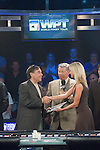 New season 5 host, Sabina Gadecki presents Stan Weiss with his entry into the 2007 WPT World Championship.