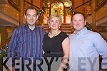 Pictured at the designers showcase at the Plaza Hotel on Friday from left: Dan Joe Nagle, Mary Hartnett and John Flemming.