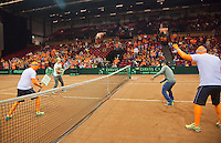 15-sept.-2013,Netherlands, Groningen,  Martini Plaza, Tennis, DavisCup Netherlands-Austria, 30 seconds  <br /> Photo: Henk Koster