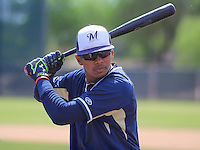 MARYVALE - March 2015: Gilbert Lara of the Milwaukee Brewers during a spring training workout on March 26th, 2015 at Maryvale Baseball Park in Mesa, Arizona. (Photo Credit: Brad Krause)