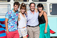 "Spanish actors Eduardo Casanova, Silvia Alonso, Jordi Sanchez and Megan Montanier during the filming of the movie "" Senor, dame paciencia"" directed by Alvaro Diaz. September 06, 2016. (ALTERPHOTOS/Rodrigo Jimenez) NORTEPHOTO.COM"