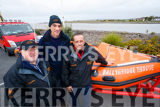 Ballyheigue Inshore Rescue, Ted Coates, Francois Cerles and Steve O'Connor pictured at the Blennerville Treshing Festival on Sunday.