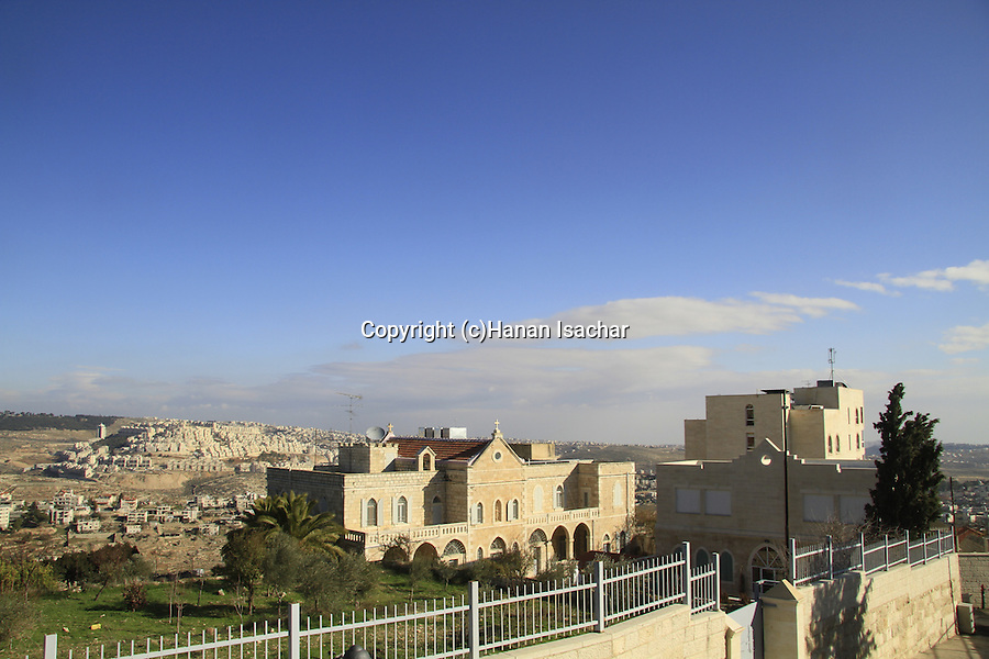 Bethlehem, a view from the Franciscan Church of the Milk Grotto
