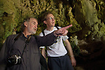 Drs. Mike Morwood, co-discover of the Flores hobbit, and Christoff Zollikofer, A researcher of Dmanisi Homo erectus, at Liang Bua Cave.