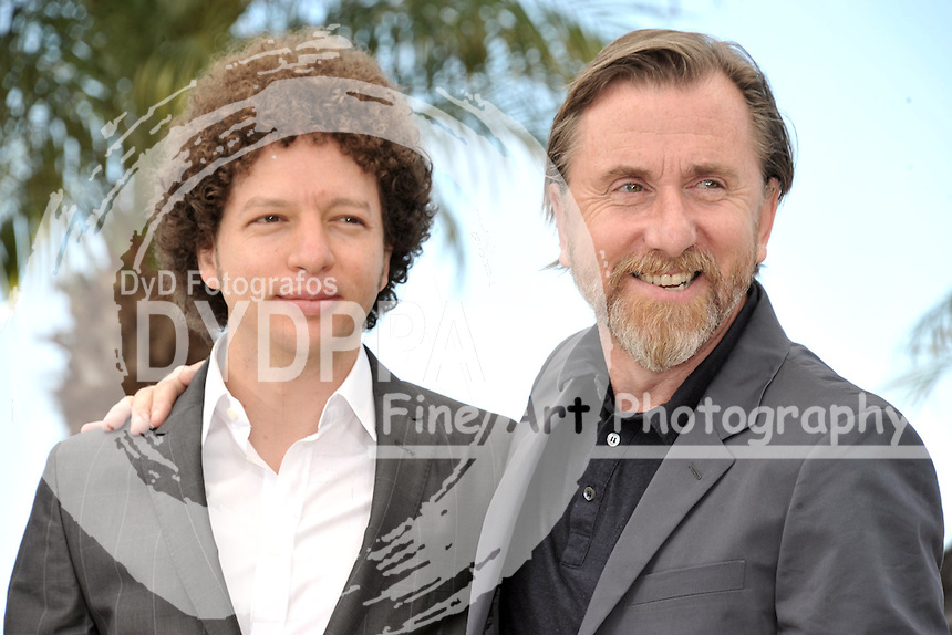 Michel Franco and Tim Roth during the 'Chronic' photocall at the 68th Cannes Film Festival on May 22, 2015