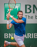Paris, France, 28 May, 2017, Tennis, French Open, Roland Garros, Quintin Halys (FRA)<br /> Photo: Henk Koster/tennisimages.com