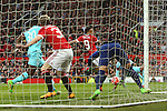 Anthony Martial of Manchester United scores his sides first goal during the Emirates FA Cup match at Old Trafford. Photo credit should read: Philip Oldham/Sportimage