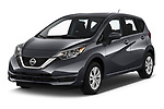 2019 Nissan Versa-Note SV 5 Door Hatchback angular front stock photos of front three quarter view