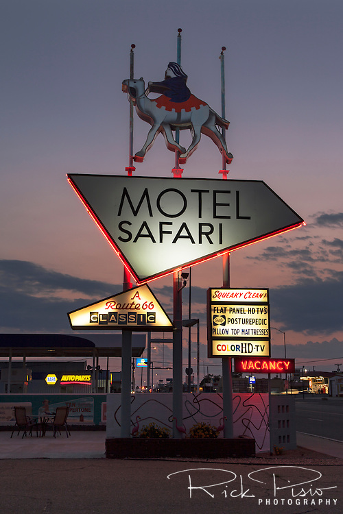 Safari Motel along Route 66 in Tucumcari, New Mexico