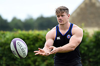 Nick Auterac of Bath Rugby passes the ball. Bath Rugby pre-season training session on July 28, 2017 at Farleigh House in Bath, England. Photo by: Patrick Khachfe / Onside Images