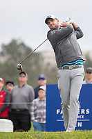 26th January 2020, Torrey Pines, La Jolla, San Diego, CA USA;  Marc Leishman hits off the tee during the final round of the Farmers Insurance Open at Torrey Pines Golf Club on January 26, 2020 in La Jolla, California.