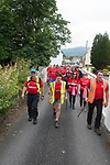 pictured in the village of Sneem in County Kerry on day 1 of the Kerry Way Walk in aid of Breakthrough Cancer Research on Friday evening. The three dayt charity walk continues in Derrynane on Saturday and South Kerry on Sunday.<br /> Photo Don MacMonagle<br /> <br /> Repro free photo breakthrough cancer research