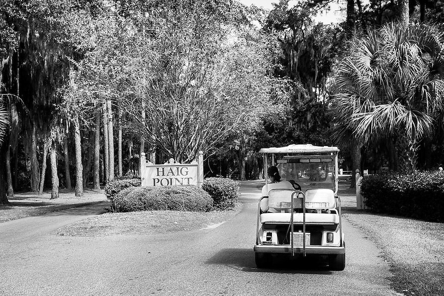 Yvonne Wilson drives up to the Haig Point gate in her golf cart to visit the family cemetery. In 1990 Wilson buried her 5-week-old son inside the private residential community. It infuriates her that she has to ask the management of the plantation for permission to visit her son's grave.