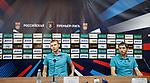 29.08.2018 Ufa manager Sergei Tomarov and captain Pavel Alikin