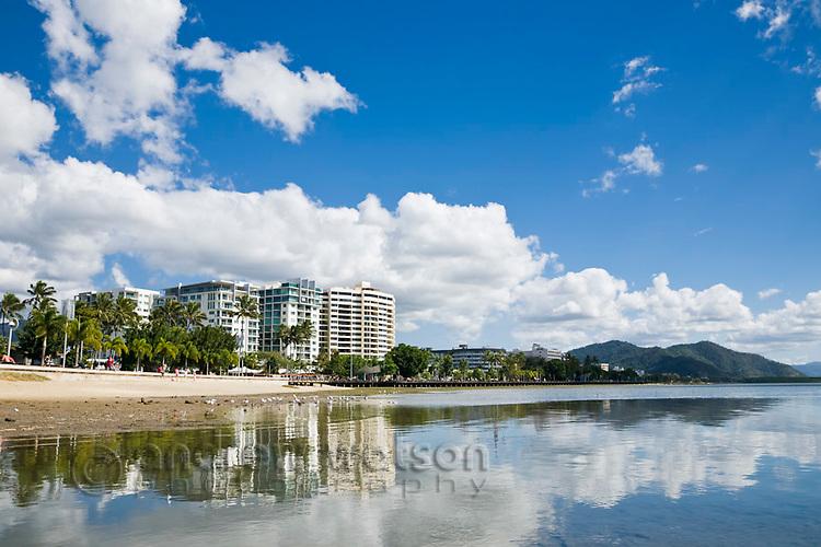 View along the Esplanade.  Cairns, Queensland, Australia