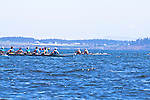 Port Townsend, Rat Island Regatta, rowers, Tuf As Nails; Wintech 8+, racing, Sound Rowers, Rat Island Rowing Club, Puget Sound, Olympic Peninsula, Washington State, water sports, rowing, competition,