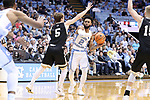 CHAPEL HILL, NC - DECEMBER 20: North Carolina's Joel Berry II (2). The University of North Carolina Tar Heels hosted the Wofford College Terriers on December 20, 2017 at Dean E. Smith Center in Chapel Hill, NC in a Division I men's college basketball game. Wofford won the game, upsetting UNC, 79-75.