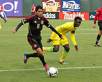San Francisco, California - Saturday March 17, 2012: Javier Aquino in action during the Mexico vs Senegal U23 in final Olympic qualifying tuneup. Mexico defeated Senegal 2-1