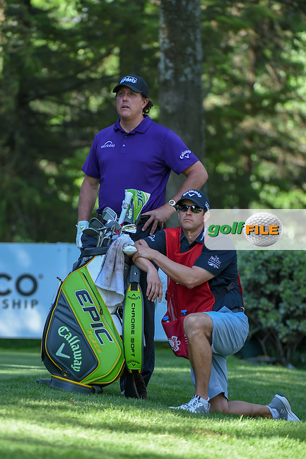 Phil Mickelson (USA) waits to tee off on 8 during round 1 of the World Golf Championships, Mexico, Club De Golf Chapultepec, Mexico City, Mexico. 2/21/2019.<br /> Picture: Golffile | Ken Murray<br /> <br /> <br /> All photo usage must carry mandatory copyright credit (© Golffile | Ken Murray)