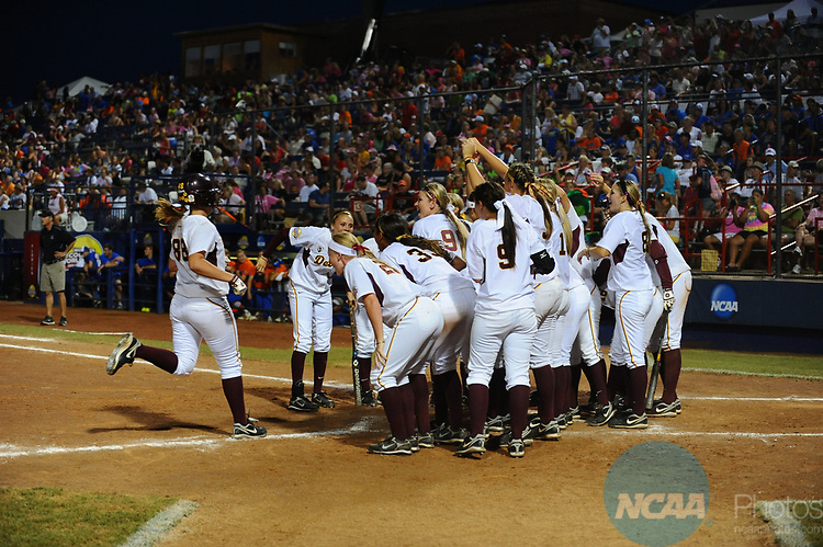 06 JUNE 2011: Annie Lockwood (88) of Arizona runs home after a home run against Florida during the Division I Women's Softball Championship at ASA Hall of Fame Stadium in Oklahoma City, OK. Arizona State defeated Florida 14-4 in Game 1 of the series.  Joshua Duplechian/NCAA Photos