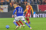 06.11.2018, Veltins-Arena, Gelsenkirchen, GER, CL, FC Schalke 04 vs Galatasaray Istanbul, DFL regulations prohibit any use of photographs as image sequences and/or quasi-video <br /> <br /> im Bild v. li. im Zweikampf Younes Belhanda (#10, Galatasaray) Sebastian Rudy (#13, FC Schalke 04) <br /> <br /> Foto &copy; nordphoto/Mauelshagen