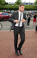 Pictured: Angel Rangel arrives Wednesday 20 May 2015<br /> Re: Swansea City FC Awards Dinner at the Liberty Stadium, south Wales, UK