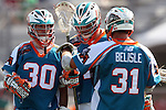 Philadelphia Barrage vs Los Angeles Riptide.Home Depot Center, Carson California.Mickey Jarboe (#30),Greg Bice (#44) and Mitch Belisle (#31).506P8389.JPG.CREDIT: Dirk Dewachter
