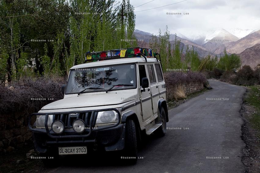 Stok Gompa. Stok (3364m) is the current residence of the former royal family of Ladakh.*Pre-season Jeep road trip from Delhi to Amritsar, Srinagar, Kargil, Lamayuru, Leh, Khardung La, Tso Moriri and back to Delhi in May 2010. Photo by Suzanne Lee